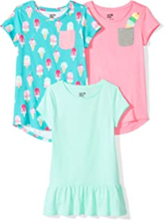 Spotted Zebra Girls 3-Pack Short-Sleeve Novelty T-Shirts Brand
