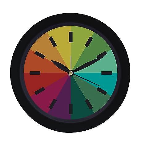 Amazoncom Konigswerk 65 inch Modern Colorful Silent Wall Clock
