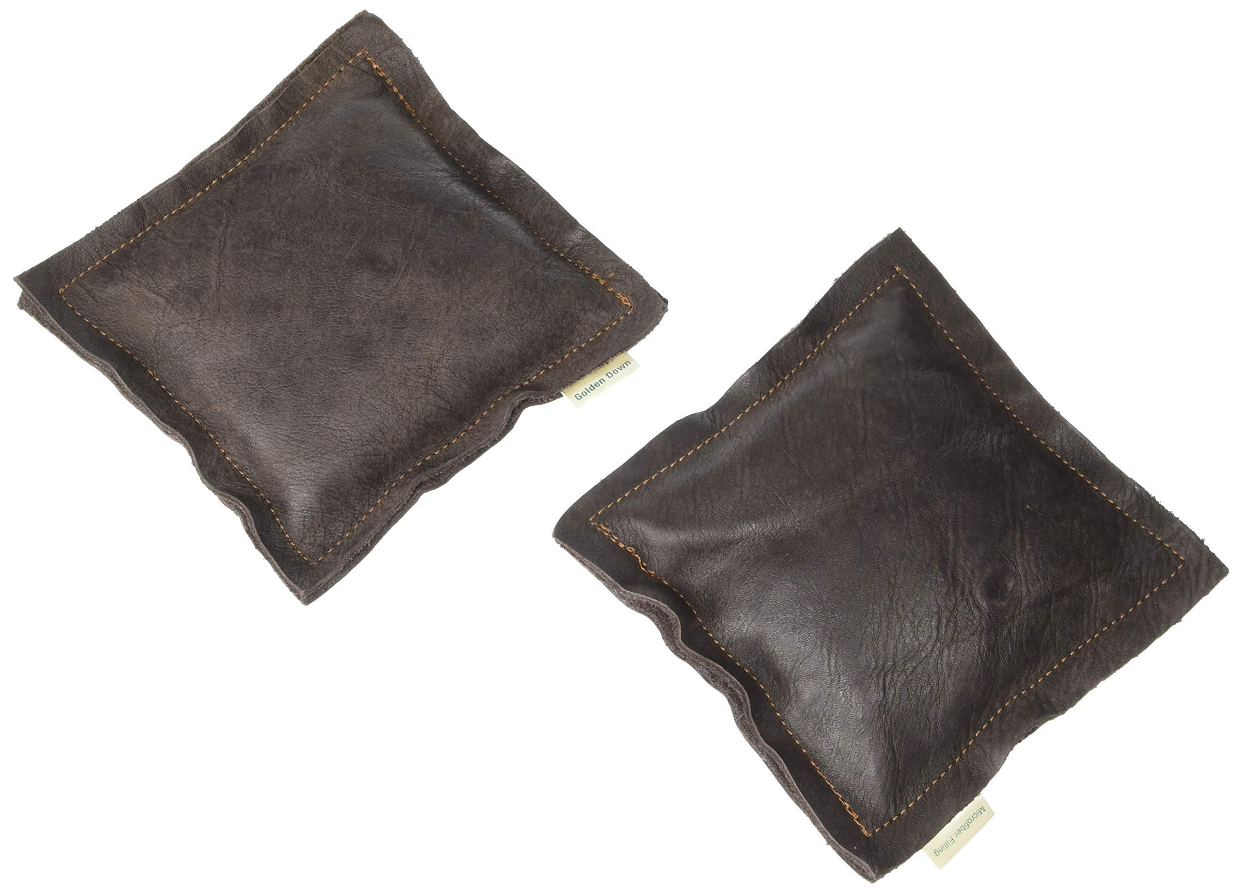 Golden Down A Pair of Elbow Leather Cushions, Premium Elbow Support Pads with Soft Microfiber, Crafted from Carefully Selected Excess New Genuine Leather, Random Color (6 x 6 Inch) by Golden Down (Image #1)