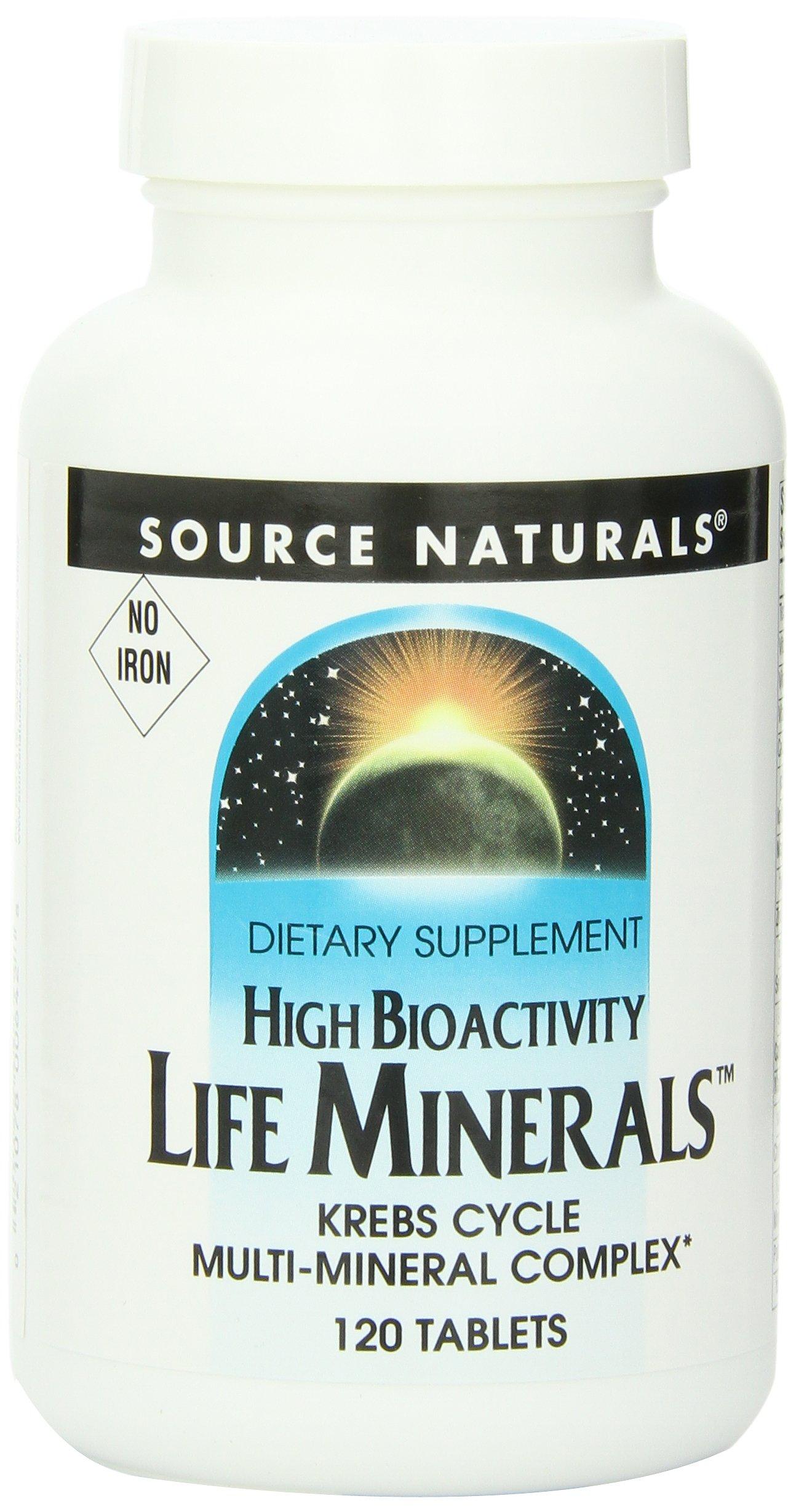 Source Naturals Life Minerals, No Iron, 120 Tablets