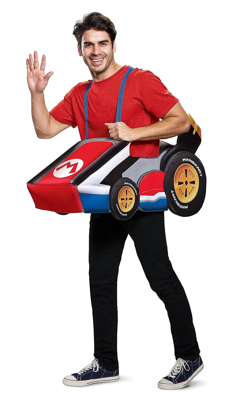 contador genuino Disguise Super Mario Mario Mario Kart Mario Ride In Adult Fancy Dress Costume Standard  mejor marca