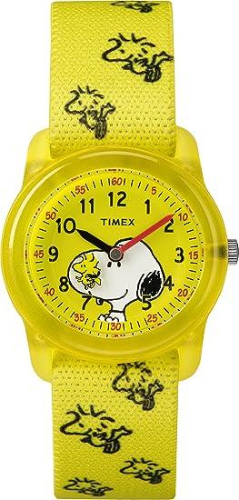 Timex Reloj Aprende la Hora para Unisex Niños de Cuarzo con Correa en Nailon TW2R41500