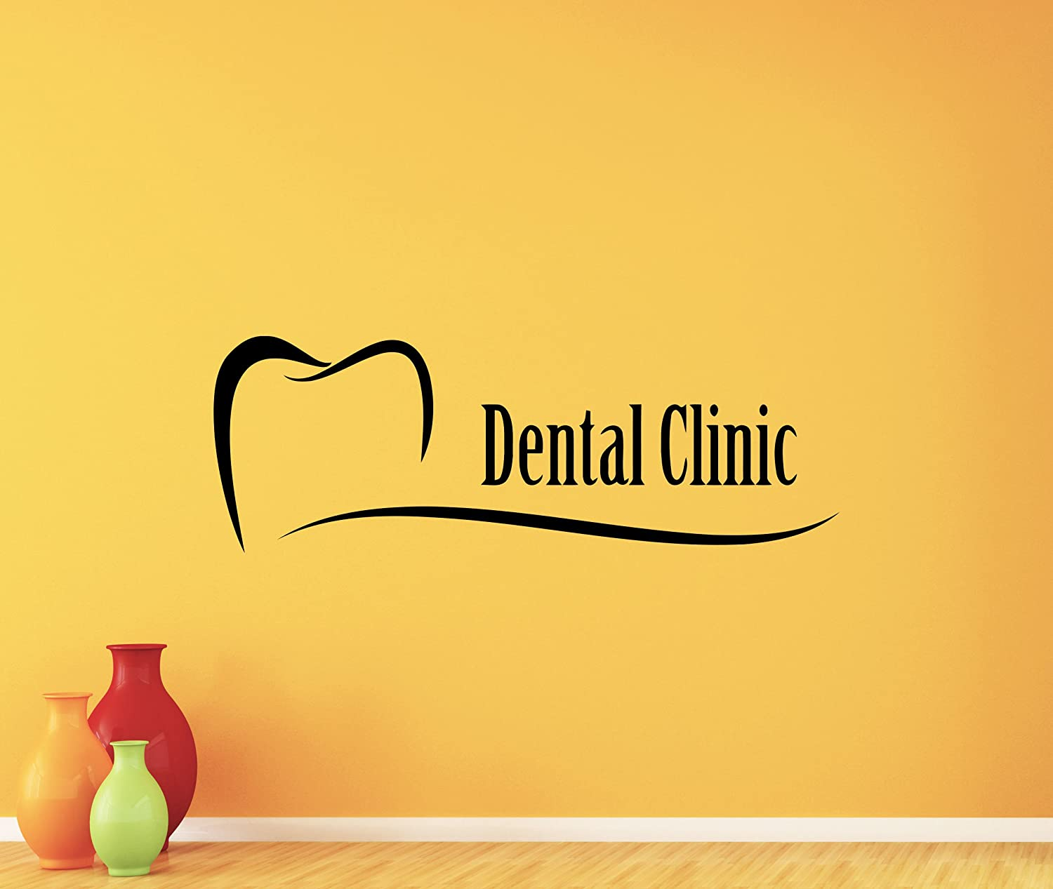 Dental Clinic Wall Decal Stomatology Dentist Tooth Dental Care Logo ...