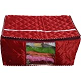 RajasthaniKart Quilted Fabric Saree Cover, Maroon (Pack_Material_115)