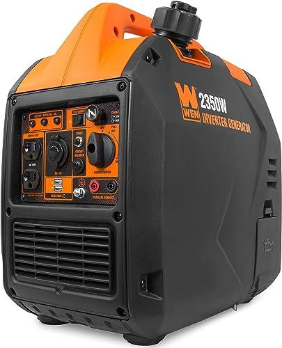 WEN 56235i Super Quiet 2350-Watt Portable Inverter Generator with Fuel Shut Off, CARB Compliant, Ultra Lightweight, Black