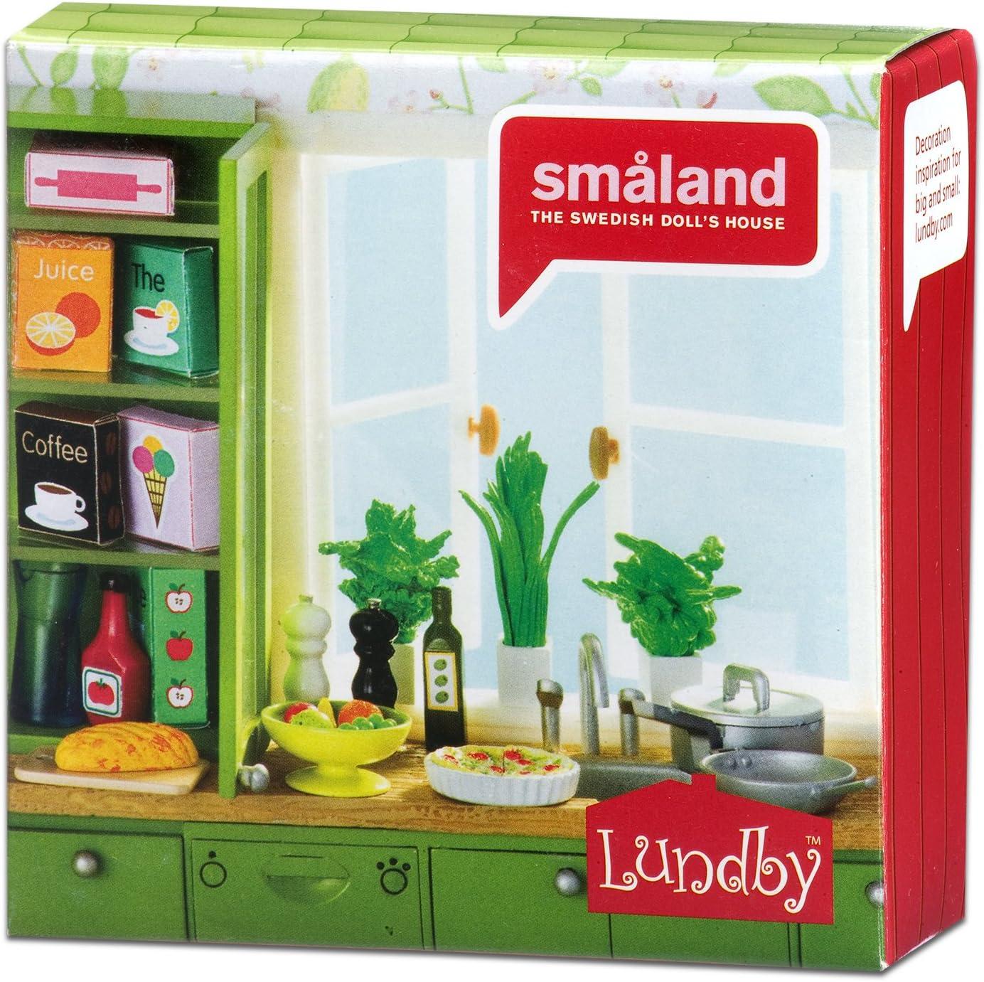 LUNDBY casa de muñecas escala 1:18 plantas de alimentos Cocina Utensilios de cocina Conjunto de accesorios
