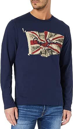 Pepe Jeans Flag Logo LS Camiseta para Hombre