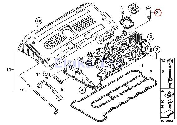 Amazon Com 6 X Bmw Genuine Engine Cylinder Head Spark Plug Tube
