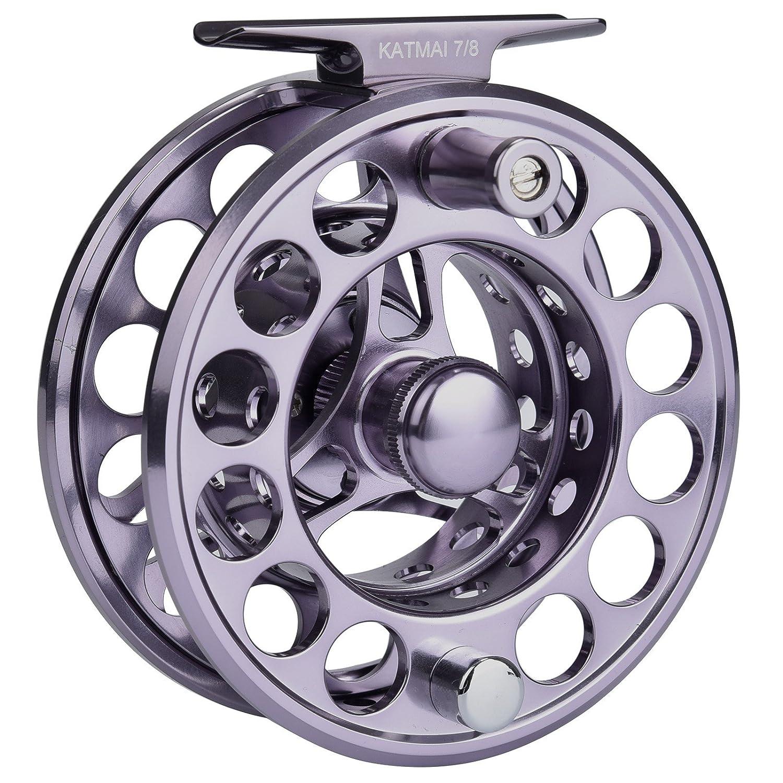 KastKing Katmai carrete impermeable de la pesca de la mosca, engranaje grande de la pesca de la mosca del cenador, fricción sellada, aluminio forjado (Gun ...