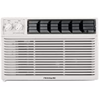 Frigidaire, White 10,000 BTU 115V Window-Mounted Compact Air Conditioner with Mechanical Controls