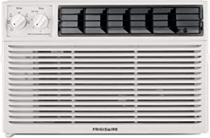 Frigidaire 6,000 Mechanical Controls, White 000 BTU 115V Window-Mounted Mini-Compact Air Conditioner