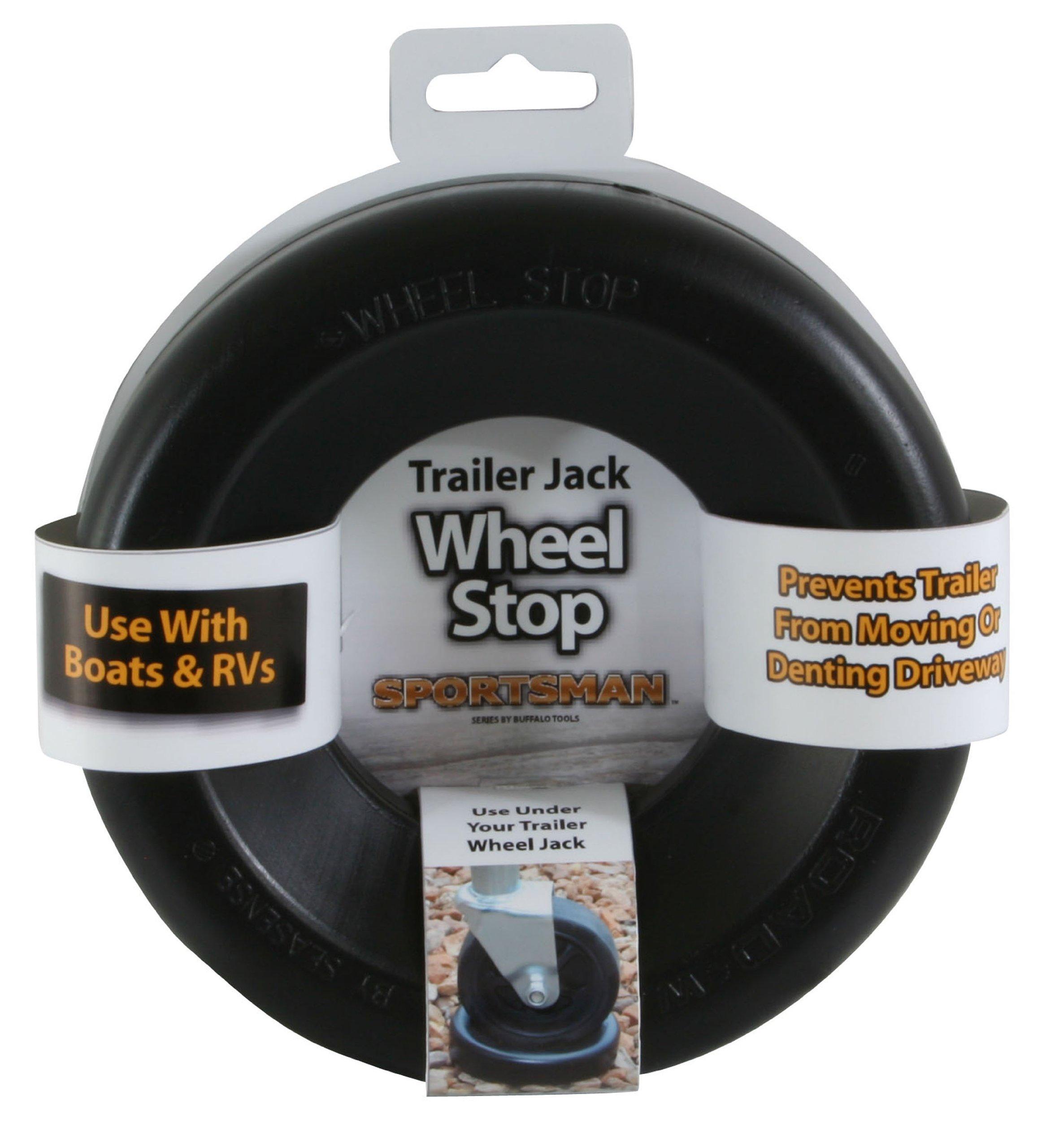 Sportsman TJSTOP Black Trailer Jack Wheel Stop by Sportsman (Image #1)