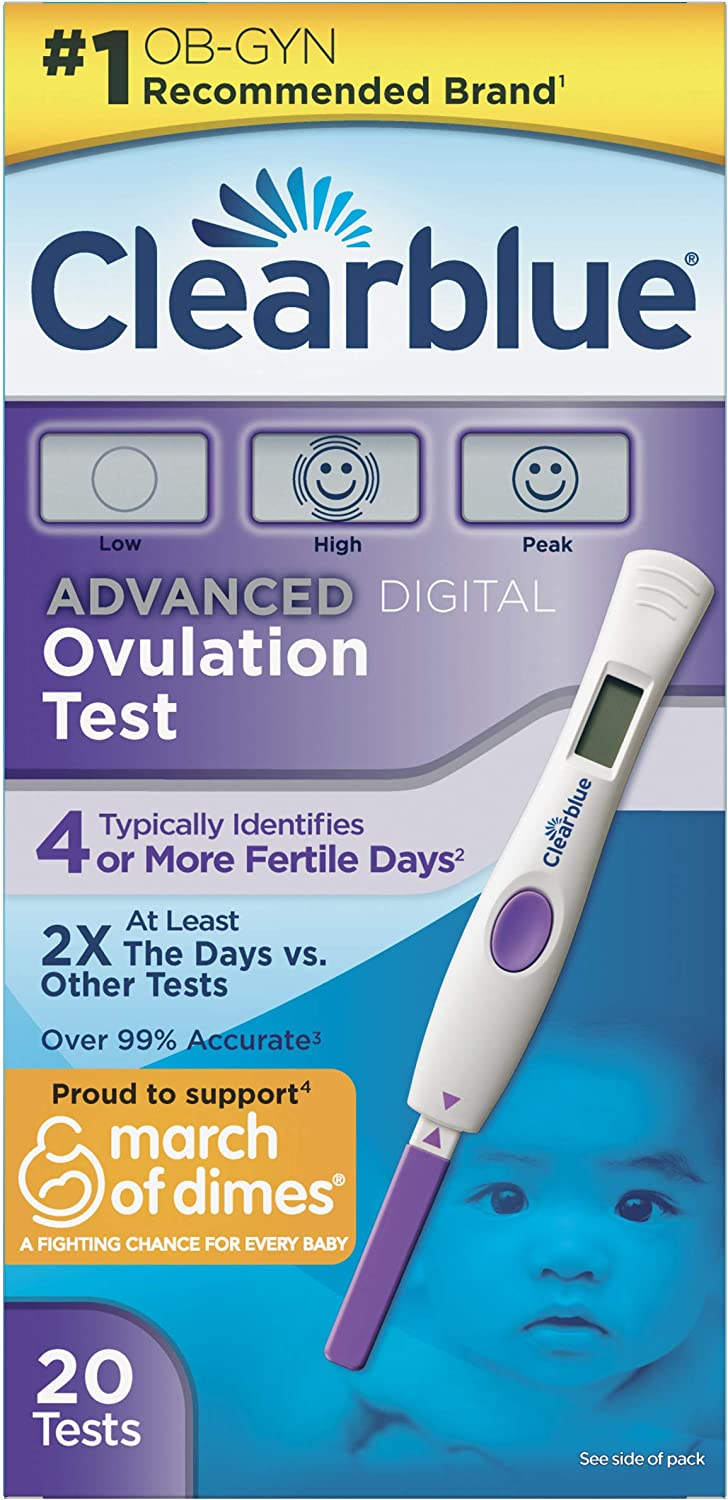 Amazon Com Clearblue Advanced Digital Ovulation Test Predictor Kit Featuring Advanced Ovulation Tests With Digital Results 20 Ovulation Tests Health Personal Care