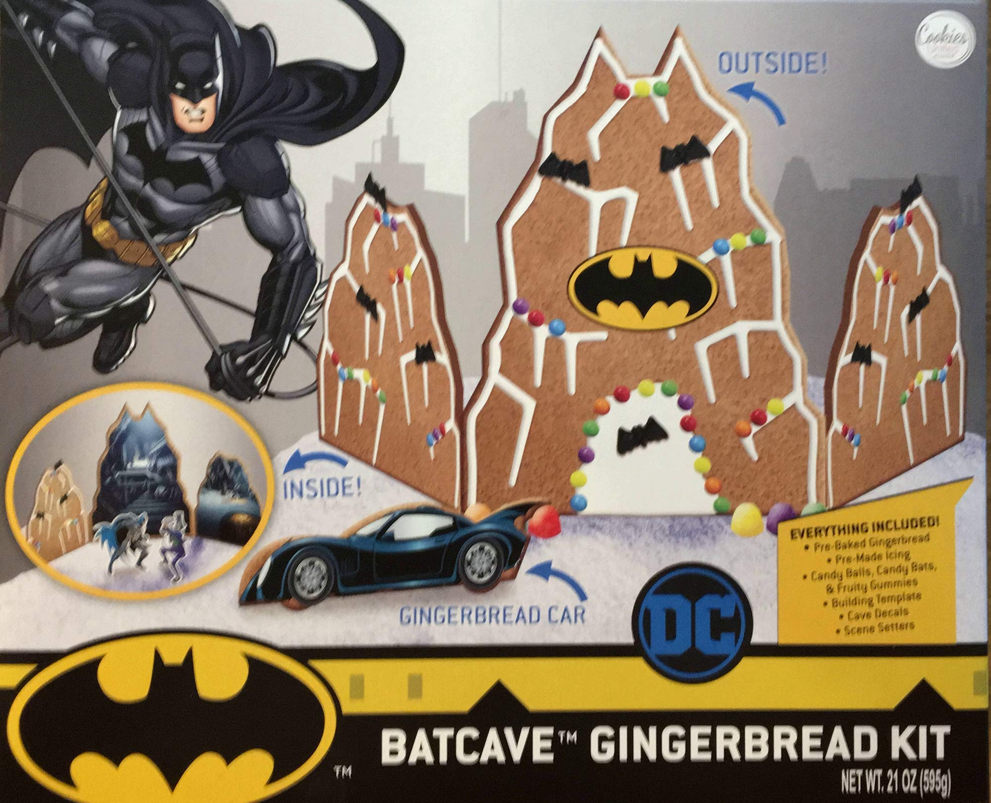 Batcave Gingerbread House Kit by Cookies United