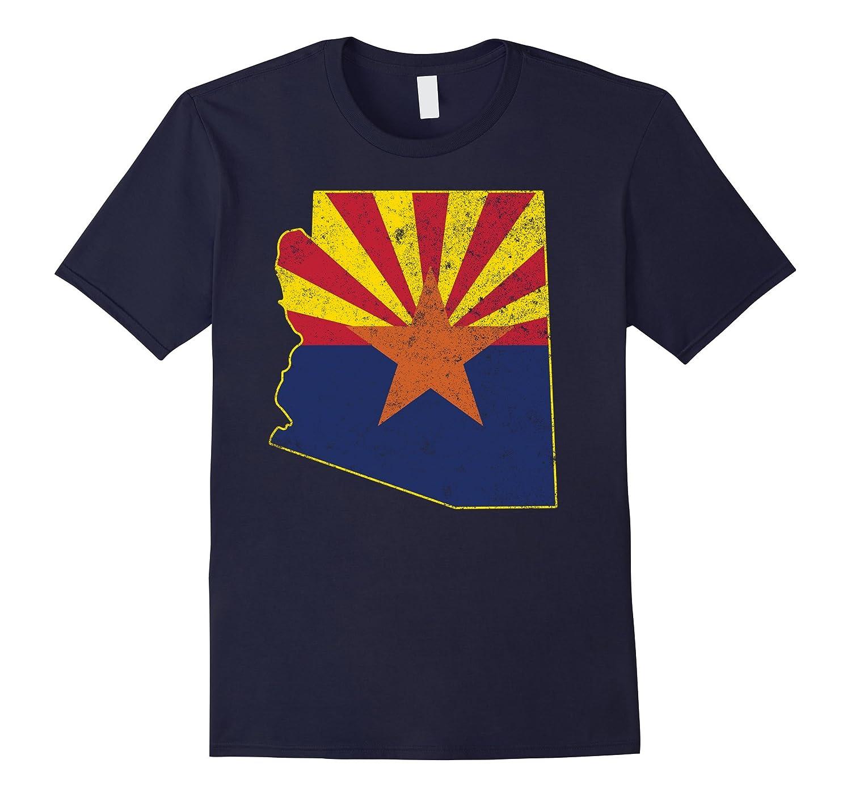 Arizona Shirt: State T-Shirt With Arizona Shape Flag-TH