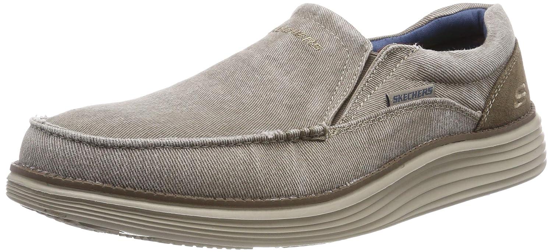 men's skechers canvas slip on shoes