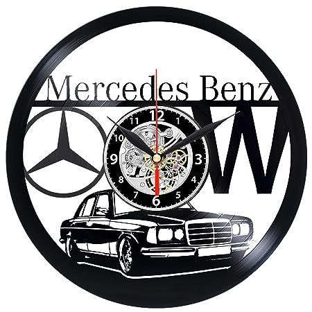 EVEVO Mercedes Reloj de Pared Vinilo Tocadiscos Retro de Reloj ...