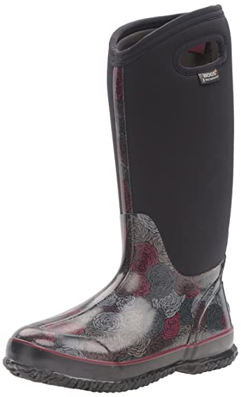 Bogs Womens Classic Rosey Tall Snow Boot       Black Multi