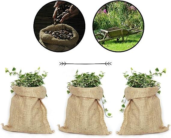 TBG Saco de Yute 100% Natural - Pack 3 Bolsas Ecológicas. Ideal ...