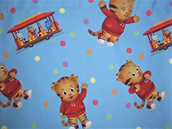 Daniel Tigers Neighborhood 100 Microfiber FLAT SHEET ONLY Size TWIN Girls Kids Bedding