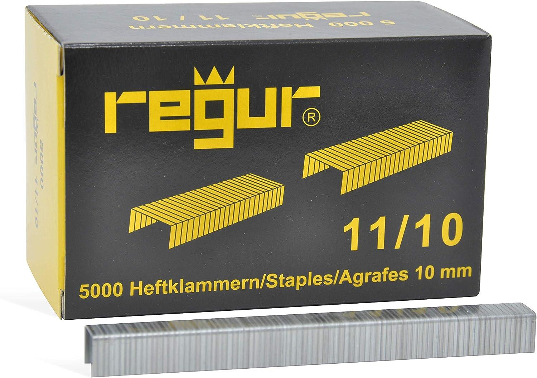 5000 St/ück Regur Typ 11//10mm Flachdraht-Klammern zur Befestigung von Dachpappen inkl Teerpappe robuster Schlagtacker mit rutschfestem ergonomischem Handgriff Folien REGUR Hammertacker 28