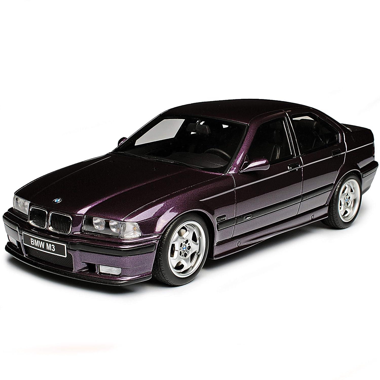 B-M-W 3er E36 M3 Limousine Violett 1990-2000 Nr 307 1//18 Otto Modell Auto mit individiuellem Wunschkennzeichen