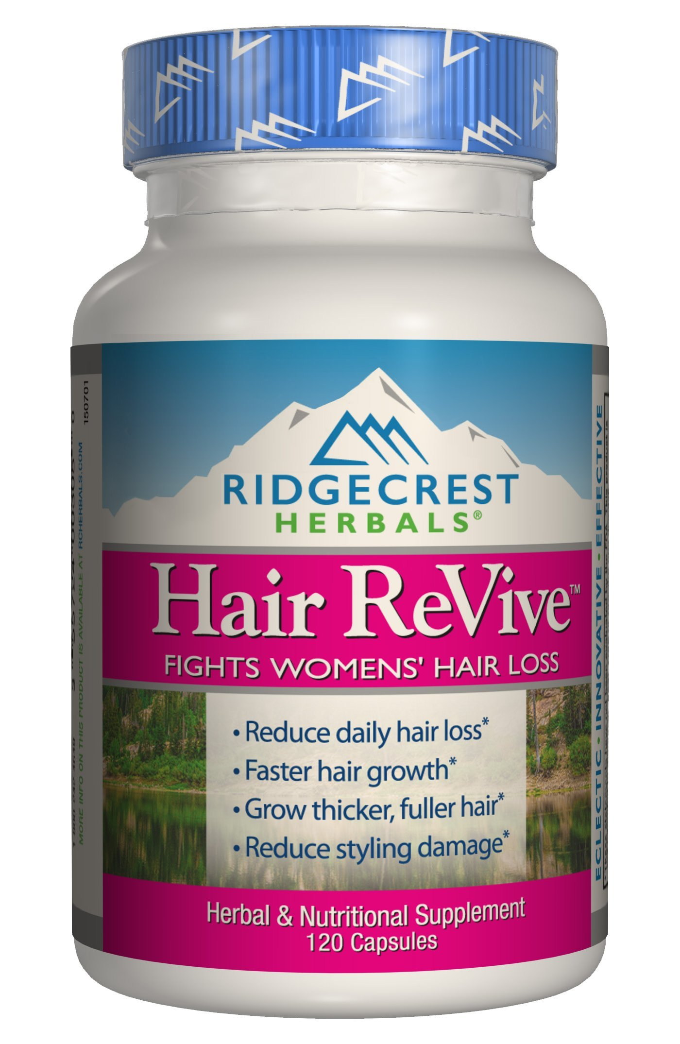 RidgeCrest Herbals Hair Revive Natural Defense Fights Women's Hair Loss Veg Caps 120 by Ridgecrest Herbals