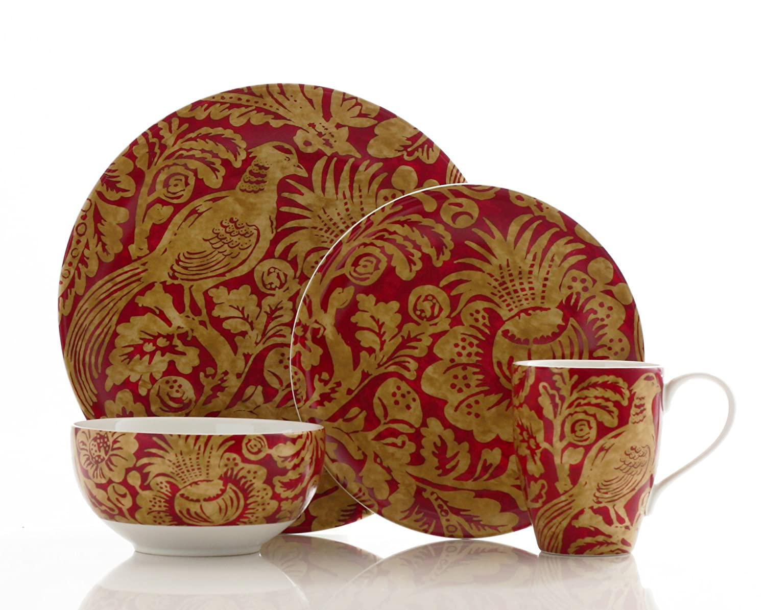 Amazon.com | 222 Fifth Belorado 16-Piece Dinnerware Set Red Dinnerware Sets  sc 1 st  Amazon.com & Amazon.com | 222 Fifth Belorado 16-Piece Dinnerware Set Red ...