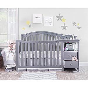 Sorelle Berkley Crib & Chnager, Gray