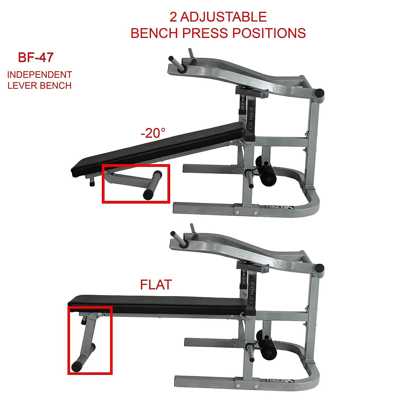 Flat bench press incline garage chest workout equipment