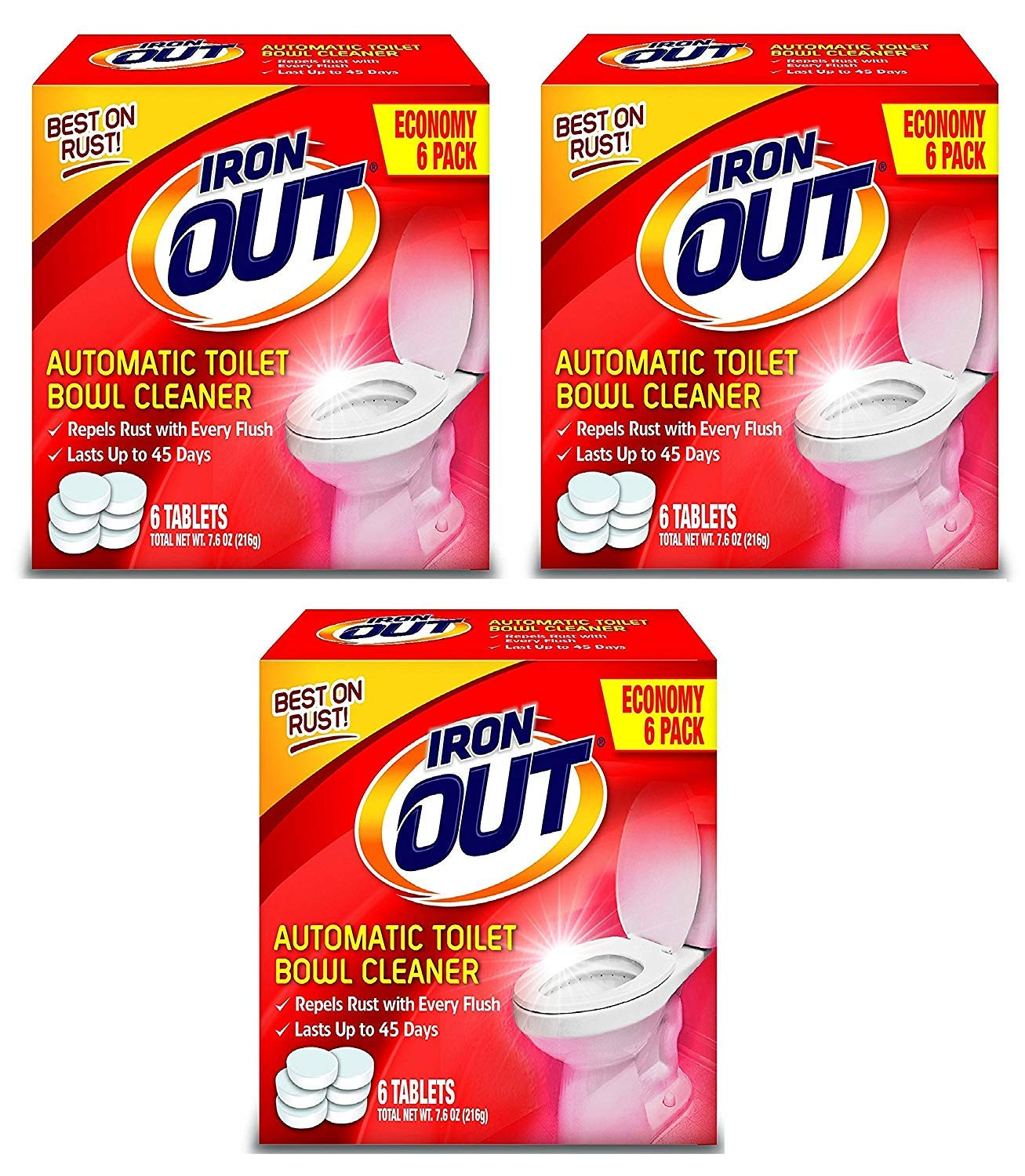 Iron Out Automatic Toilet Bowl Cleaner Tablets, 18 Total by Iron Out