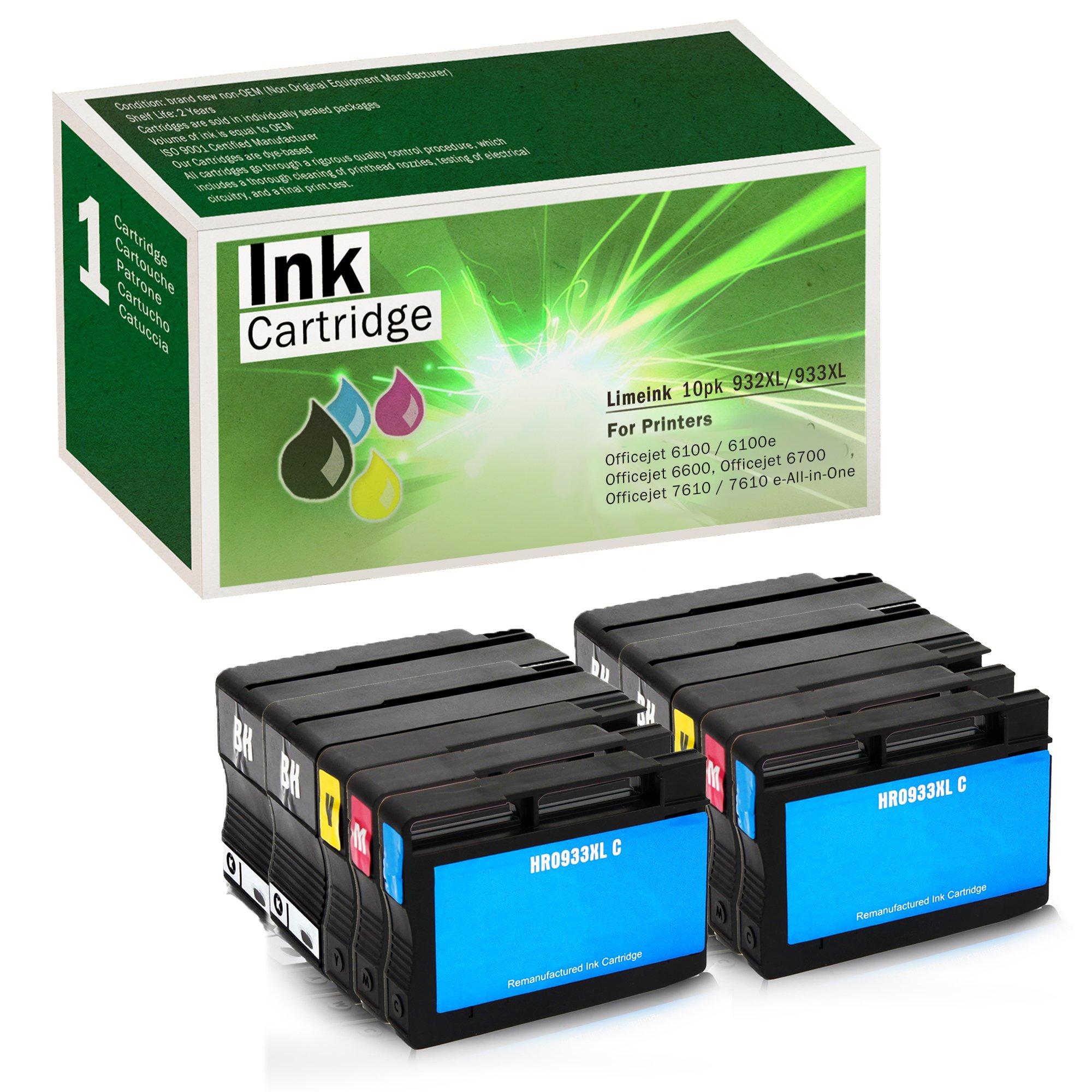 Cartucho Alternativo HP 932XL 933 XL 10 Un. LIMEINK