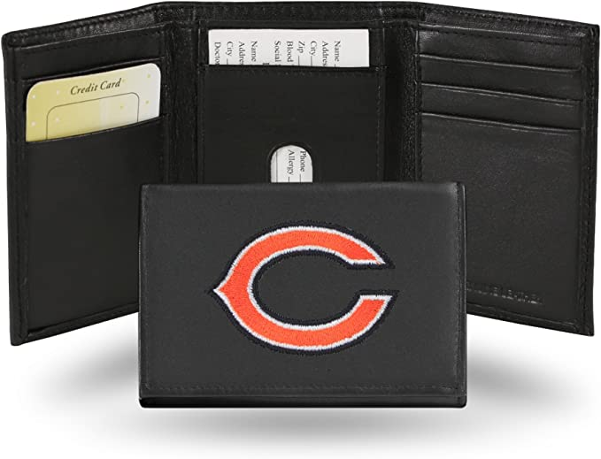Rico Industries Bears Premium Leather Front Pocket Wallet