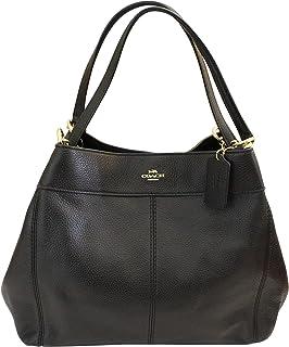 3422258eb822d Coach F57545 Lexy Pebble Leather Shoulder Bag (Black)  Handbags ...