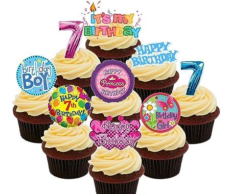 Made4You Paquete de Fiesta de 7 cumpleaños para niño y niña ...