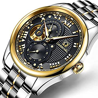 Relogio Masculino 2017 Carnival Watches Men Business Reloj Stainless Steel Wristwatch Mens Fashion Automatic Mechanical Watch