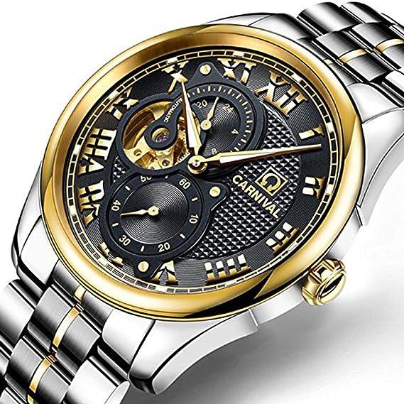 7a4947cf5f1 Amazon.com  Relogio Masculino 2017 Carnival Watches Men Business ...