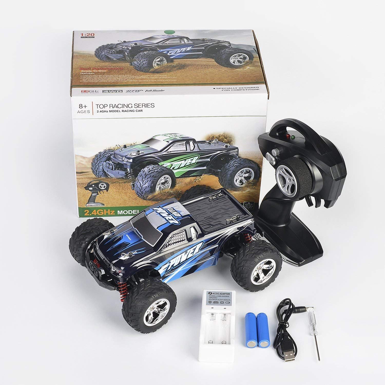 Voiture Télécommandée, RC Voiture Radiocommandee 2WD 2.4Ghz Voiture  Electrique RC Camion Haute Vitesse, 9a3fc2136b4e