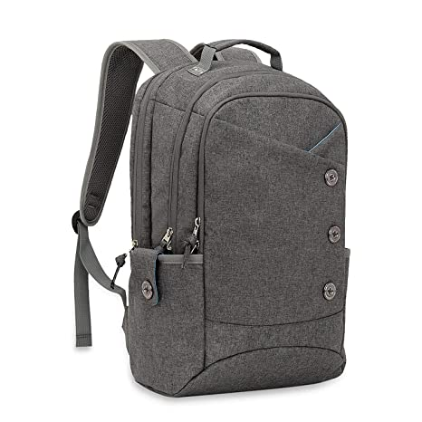 08a004e7bdc KINGSLONG Laptop Backpack for Men and Women, 15.6 Inch Unique Button Style  Slim and Stylish