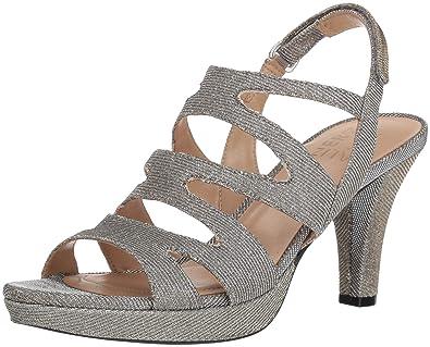 ea81aa27c083 Naturalizer Women s Pressley Heeled Sandal Alloy 4.5 M US