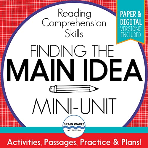 How Many Times Are Students Asked To Identify The Main Idea In A Reading  Passage? You Would Think That They Would Be Masters At Finding The Main The  Idea By Now. However, Many Students Still Struggle With Identifying The Main  Idea And Supporting Details In