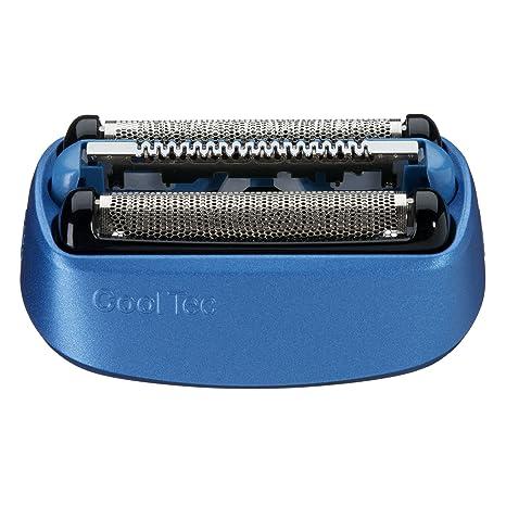 Braun 40B - Recambio para afeitadora eléctrica hombre, compatible con CoolTec, color azul