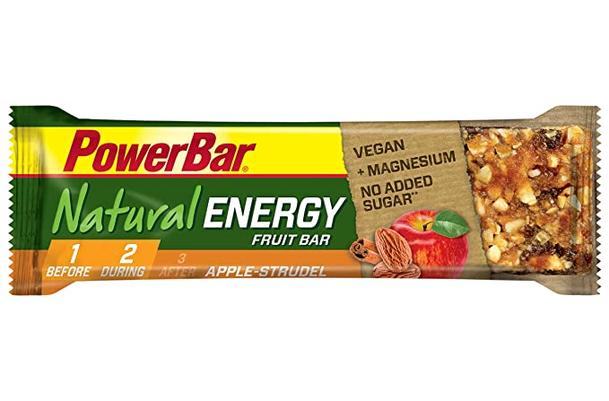 PowerBar Natural Energy Fruit - Nutrición deportiva - Apple Strudel 24 x 40g verde/naranja 2018: Amazon.es: Salud y cuidado personal
