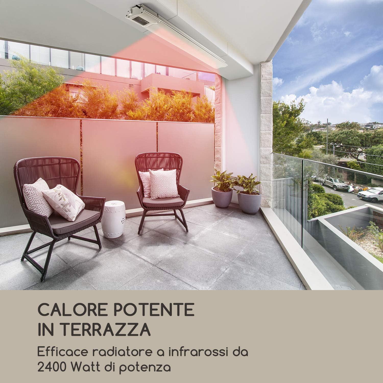 termostato stufa a terrazzo infrarossi riscaldatore da patio ad alta potenza Elettrico OPRANIC PRO IPX4 a prova di spruzzi nero perla LAVA Riscaldatore a infrarossi 1500 Watt