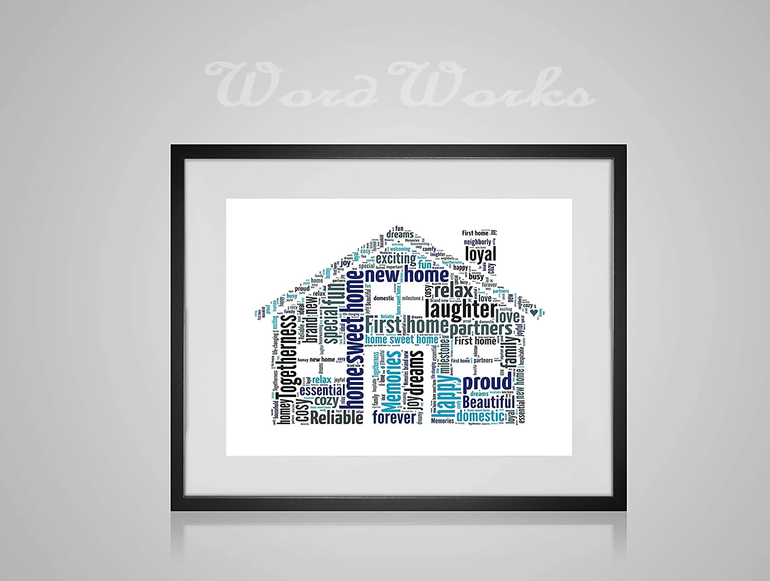 WordWorks Personalised Gifts New House Home Family Friends Word Art Cloud Print