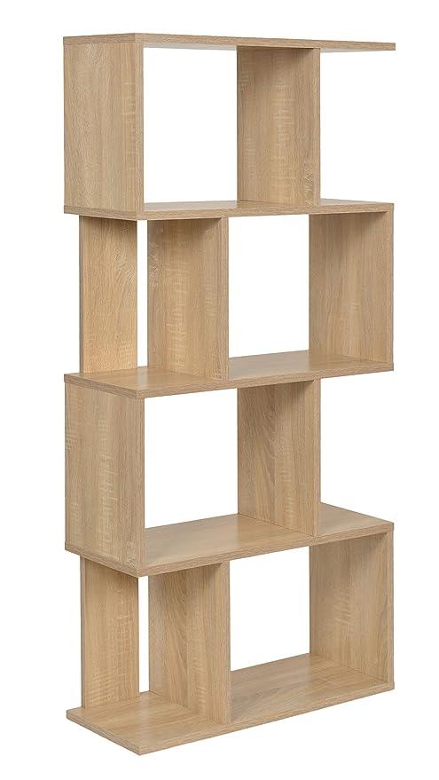 ts-ideen Design Regal Hochregal Standregal Bücherregal CD-Regal Holz weiss NEU