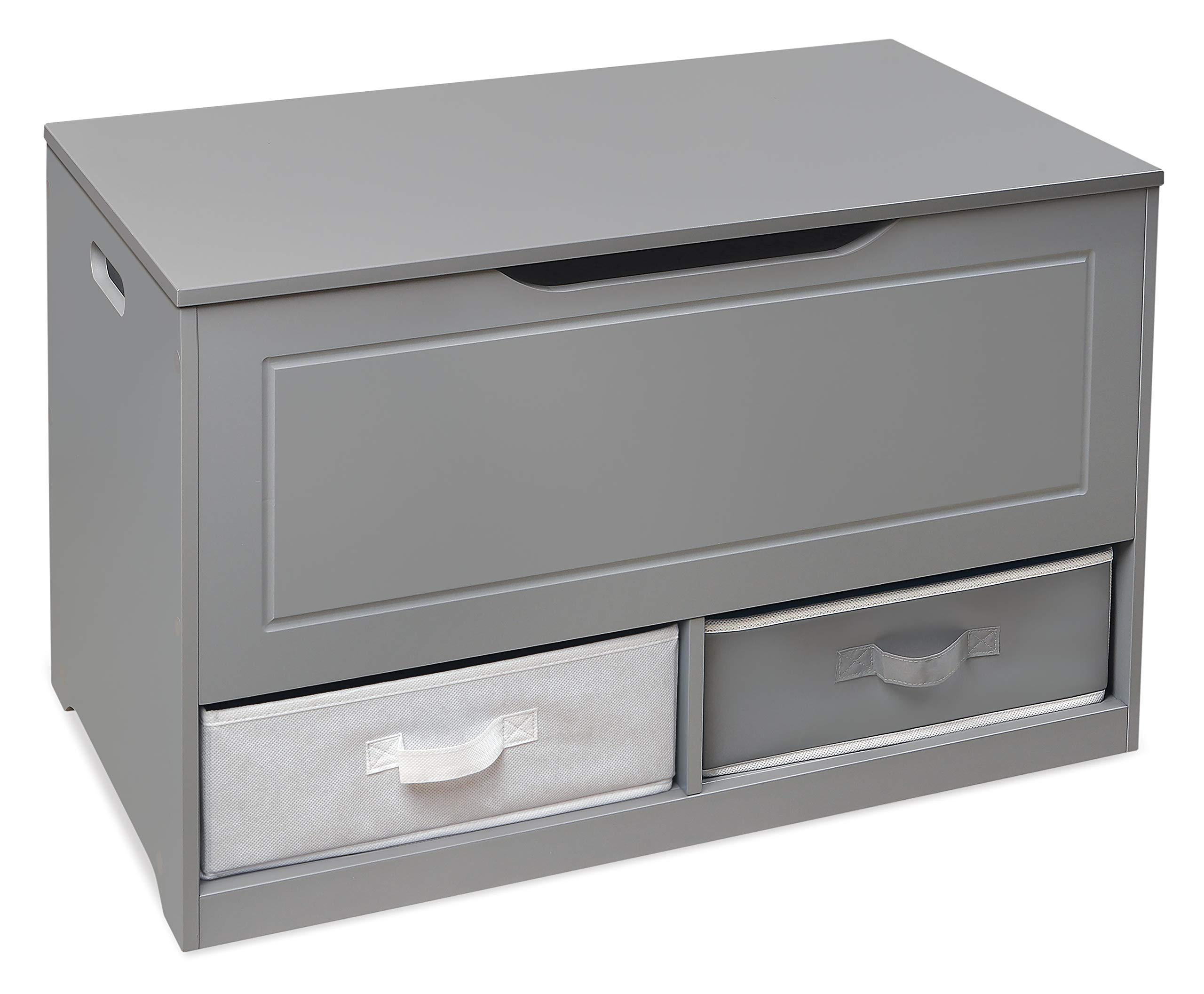 Badger Basket Up and Down Toy and Storage Box with 2 Basket Drawers, Gray/White by Badger Basket (Image #9)
