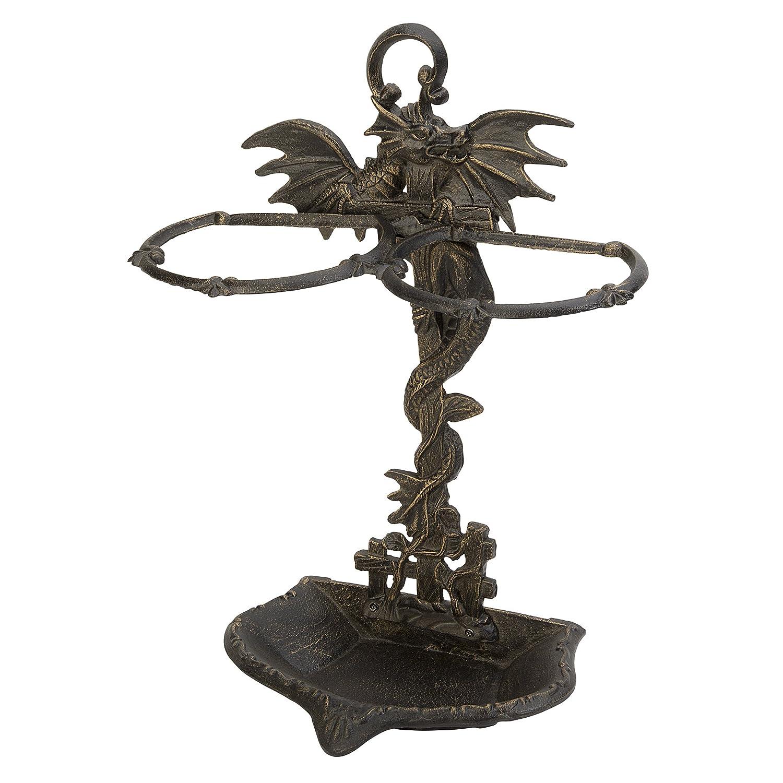 Design Toscano Wyvern Dragon Iron Walking Stick Holder QH9267