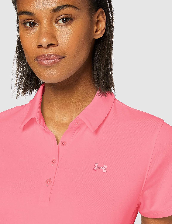 Under Armour Women's Zinger Short Sleeve Short Sleeve Polo Lipstick / / Bubble Gum (691)