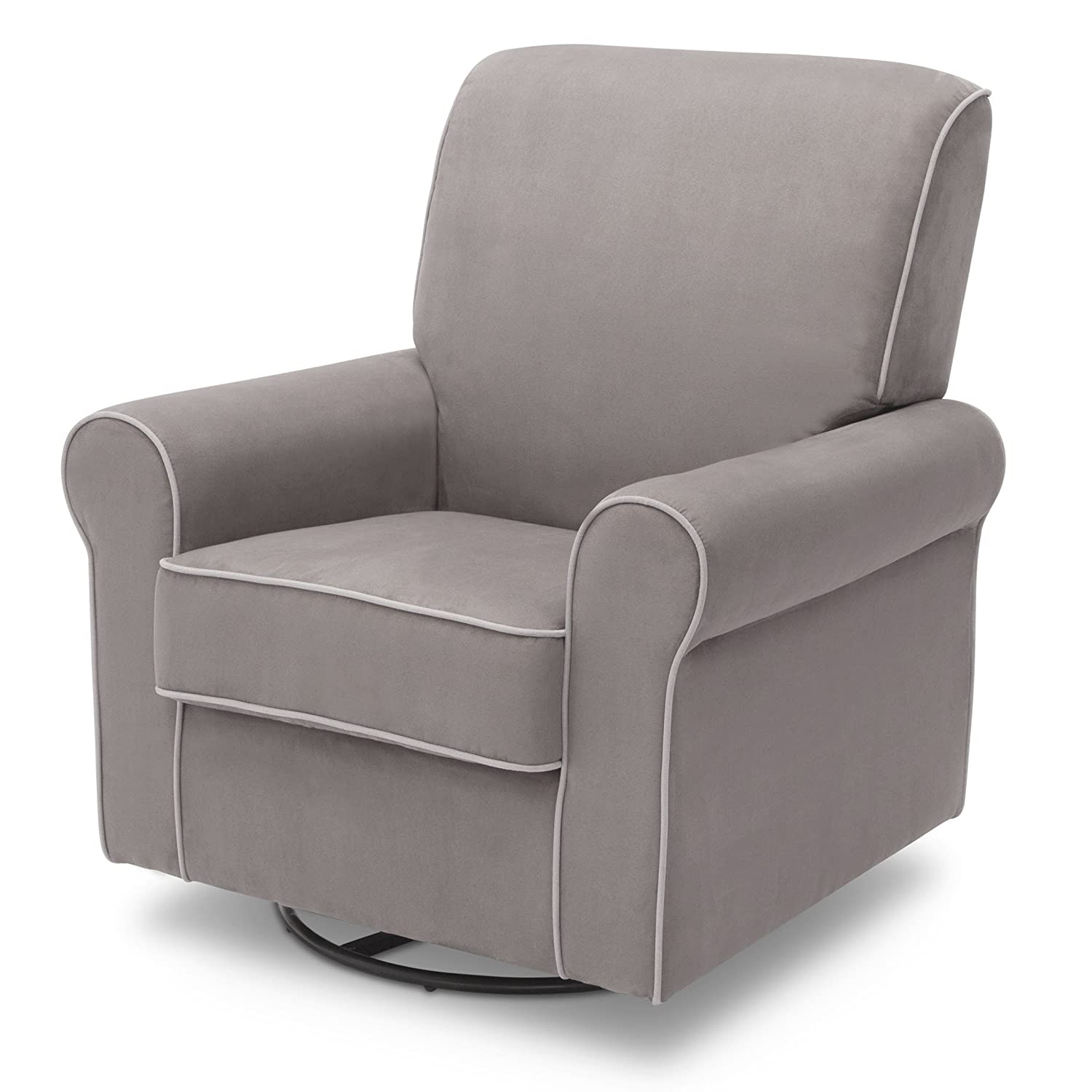 Delta Children Rowen Glider Swivel Rocker Chair, Dove Grey